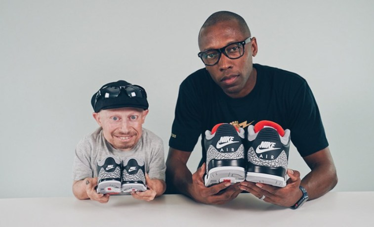 f3a4b1a9205c8d Verne Troyer and Jacques Slade unbox the new Air Jordan 3 Black ...
