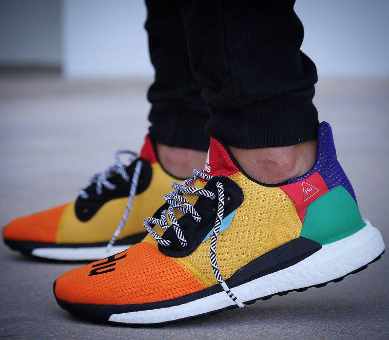 5981db6198a Pharrell x Adidas Solar Hu Glide ST on Feet – SoleGRIND