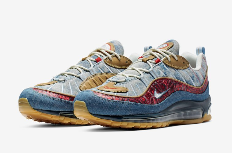 """04d9d2698c The Nike Air Max 98 """"Wild West"""" will release February 2nd at select Nike  Sportswear retailers and Nike.com. The retail price tag is set for $180."""