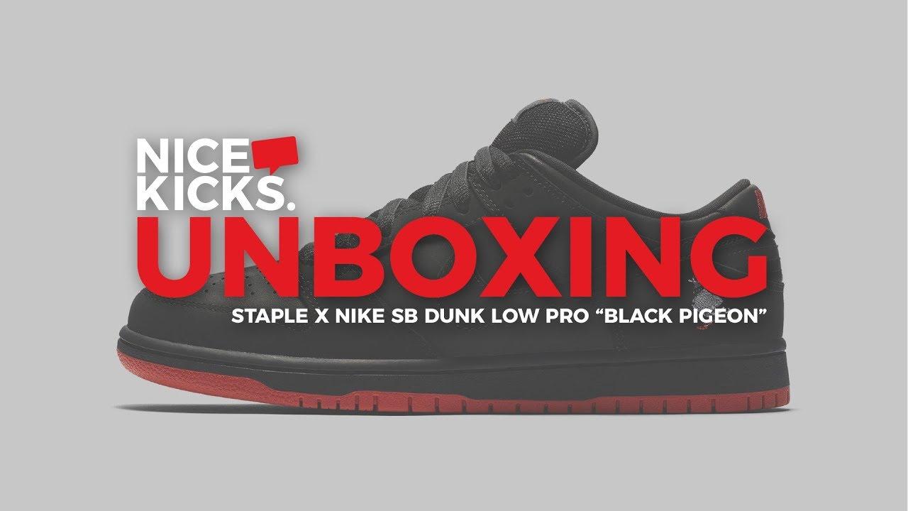 fae04327fd1b UNBOXING the Staple x Nike SB Dunk Low Pro