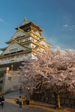 Chateau Osaka , printemps ( Soleil Levant 75 )