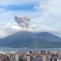 """""""Sakurajima"""", le volcan le plus actif du Japon.."""