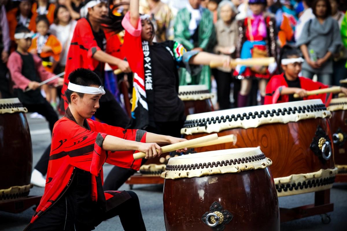 Le taiko, le tambour japonais traditionnel..