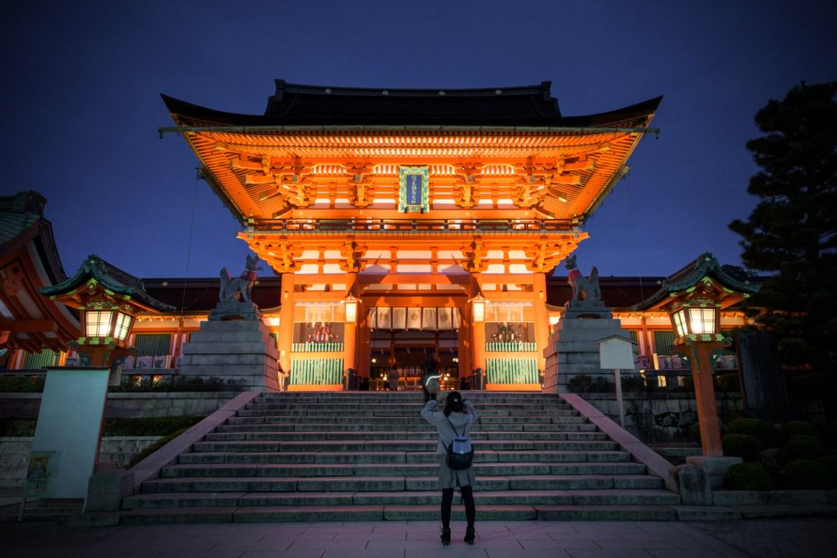 Kyoto, le temple Fushimi Inari ..