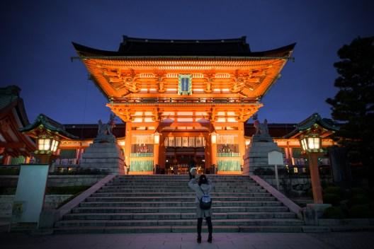Kyoto, Fushimi inari.( Copyright Soleil Levant 75 )