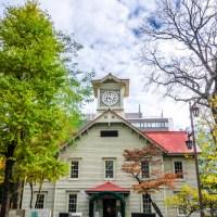 Hokkaido. La tour de L'horloge de  Sapporo.