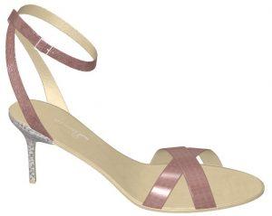 Solely Original Shiny Pink Strappy Heel