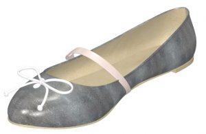 Solely Original Shiny Silver Ballet Flat