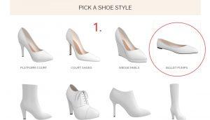 Baby Blue Vintage Flats Step 1- Pick the Ballet Pump