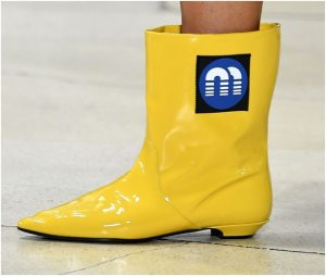Miu Miu Yellow Calf Boots