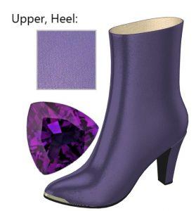 Purple Silk Calf Boot