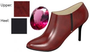 Shiny Red Leather Ankle Boot