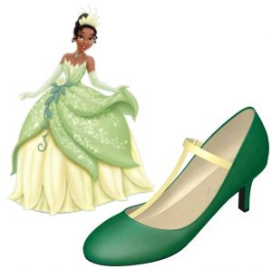 Green Pump with Yellow Strap