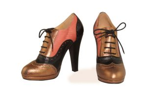 Betty Colourful High Heel Oxfords, with a round toe