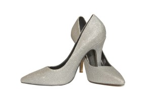 Lara Sparkling Silver Glitter Court Shoes, shoes for every woman this spring