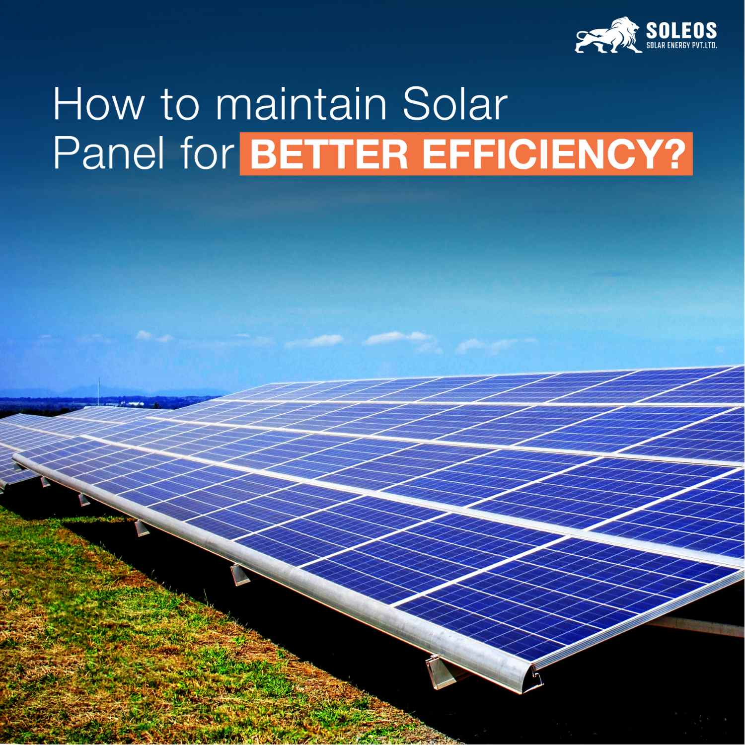 How to maintain Solar Panel for better efficiency?