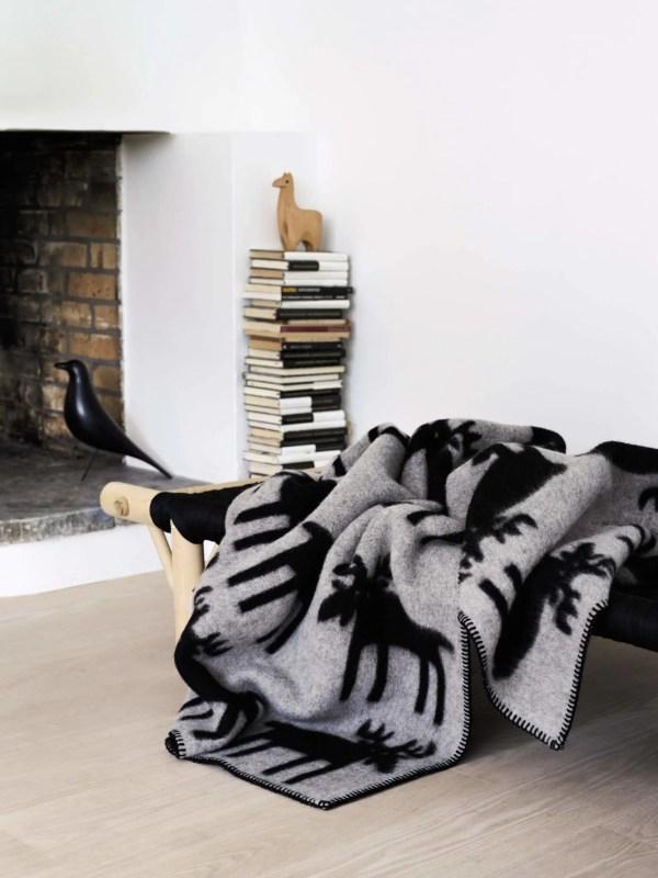 Elch Wolldecke Roros Tweed