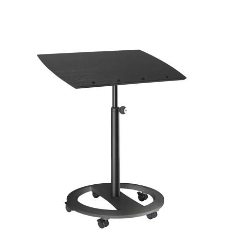 mobiles Steh- und Sitzpult rolls drive Esche schwarz dekor