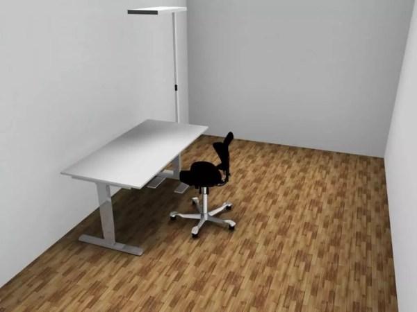 Start Up Büroeinrichtung Tisch, Stuhl und Lampe günstig