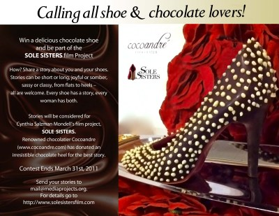Win a delicious chocolate shoe and be part of the Sole Sisters Project