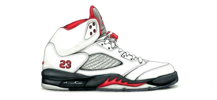 air-jordan-5-white-red-solesketch