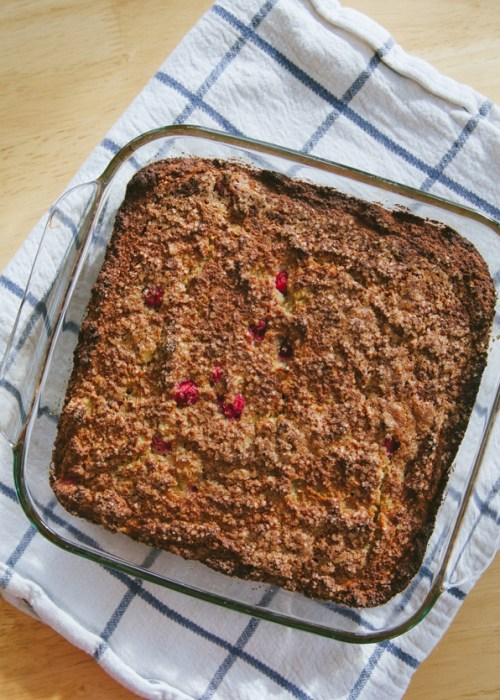 Grain-Free Banana Cranberry & Lemon Breakfast Cake | soletshangout.com