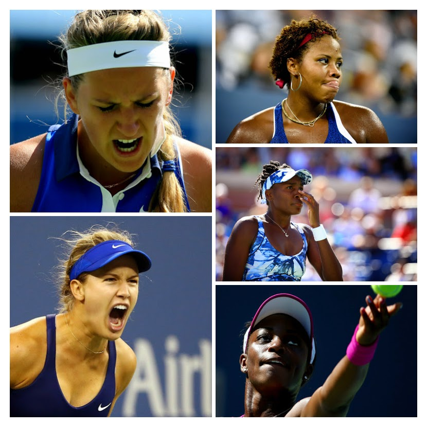 L-R: Genie Bouchard, Victoria Azarenka, Taylor Townsend, Venus Williams, & Sloane Stephens. Images from Zimbio