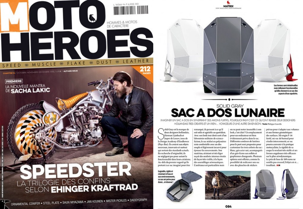 solid gray bike backpack publication