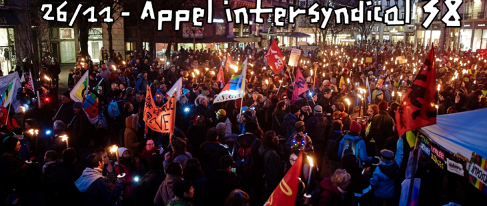 Appel intersyndical 38 au rassemblement du 26 novembre (18h, Verdun) : 12 revendications  pour un plan d'urgence social face à la crise