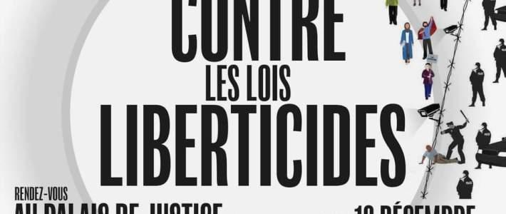 Manifestation contre les lois liberticides ce samedi 19 décembre à Grenoble [+ vidéos argumentaires]