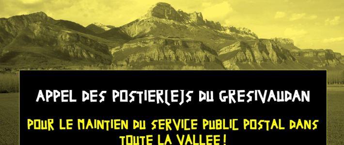 """Appel des postier.e.s du Grésivaudan """"Pour le maintien du service public postal dans toute la vallée !"""""""