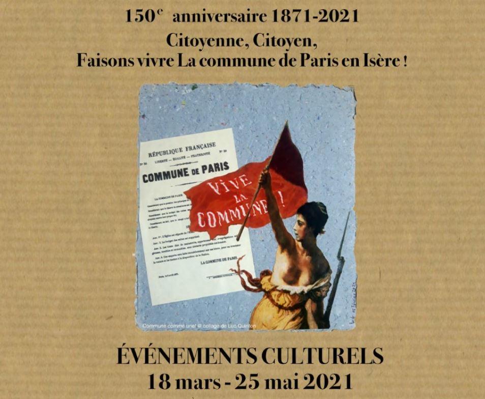 150ième anniversaire de la Commune en Isère : mémoire de 1871 et actualité en 2021 d'une lutte sociale, populaire et révolutionnaire