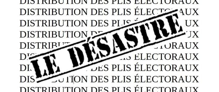 Distribution du matériel électoral : LES RAISONS DU DÉSASTRE
