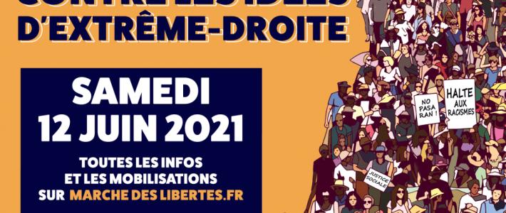 Mobilisation unitaire contre l'extrême droite et ses idées, samedi 12 juin 14h place Lavalette à Grenoble !