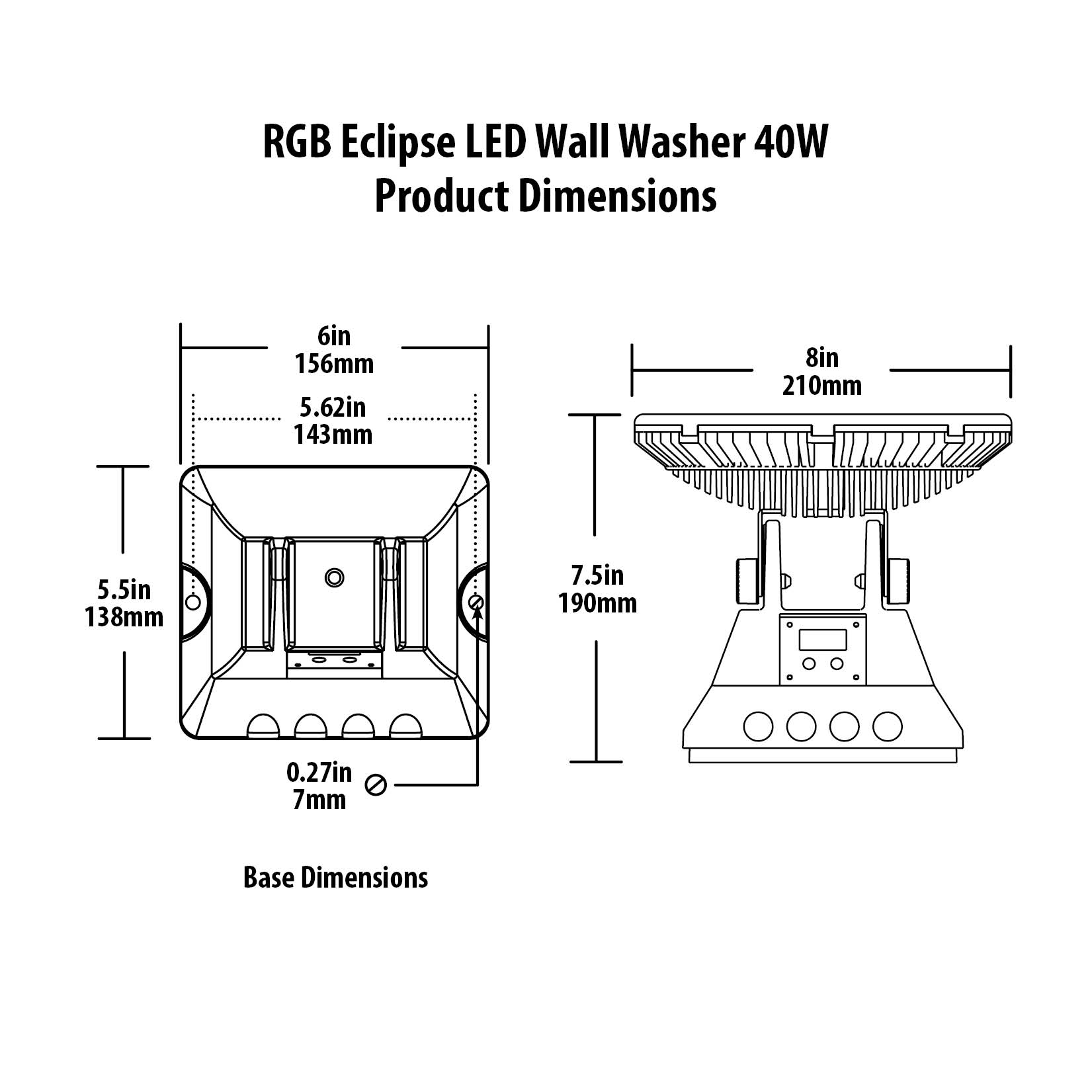 Rgb Eclipse Led Flood Wall Washer