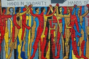hands in solidarity