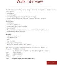 Lowongan Kerja Berbagai Posisi di PT SOS Indonesia