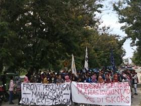 Rekannya Diskorsing, Ratusan Mahasiswa Palu Gelar Aksi Solidaritas