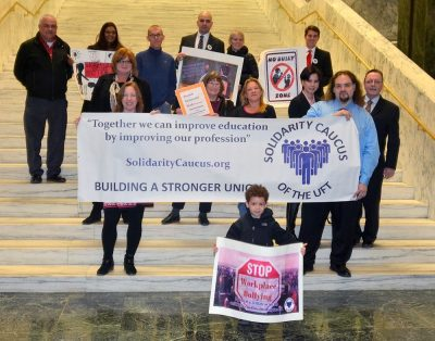 UFT Solidarity stands against workplace bullying.
