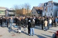 """Aufgebrachte Stimmung beim sogenannten """"Meinungsaustausch"""" mit sogenannten """"Besorgten Bürgern"""" auf dem Marktplatz in Delmenhorst"""