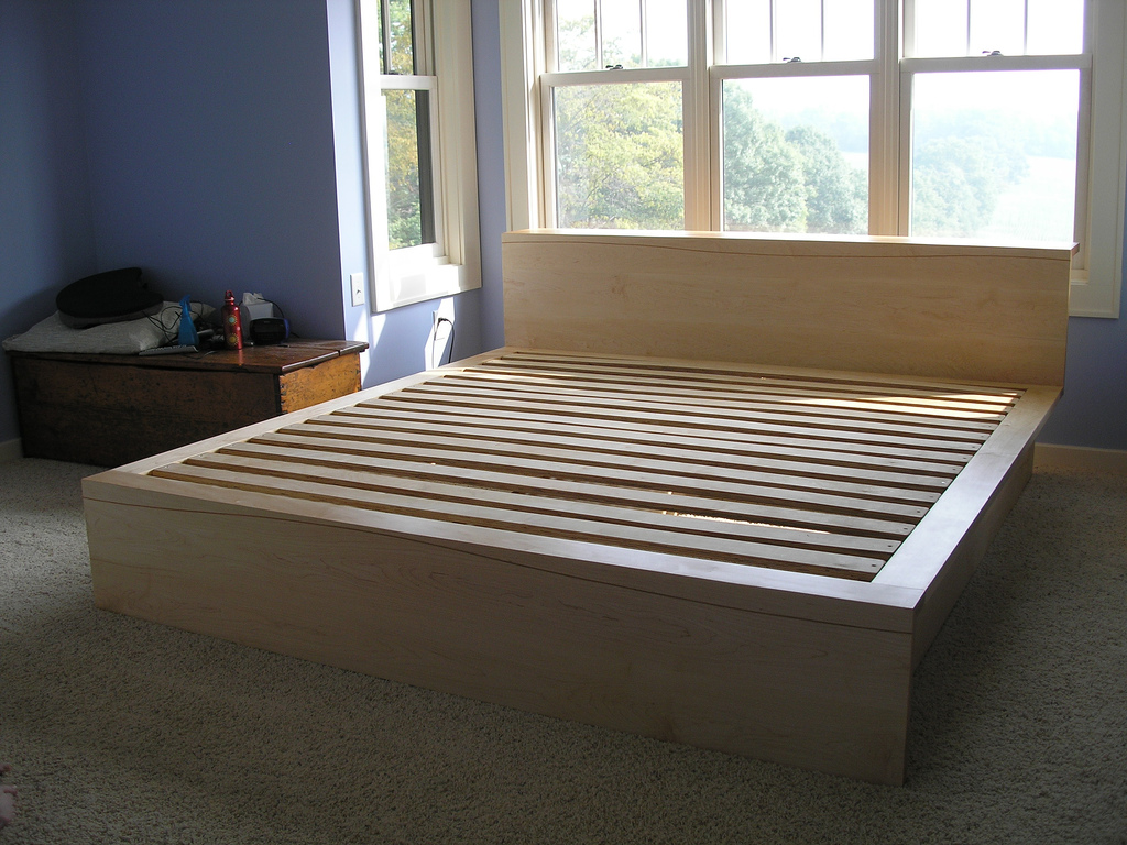 Maple And Cherry Platform Bed Solidio Wood Amp Metal Craft