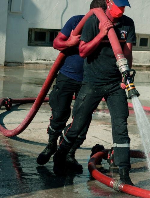 Intervention pompier extinction incendie