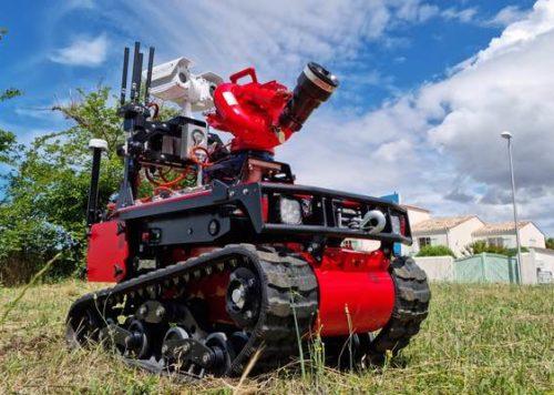 robot extinction de feu à distance