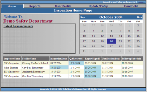 follow up inspector-home page