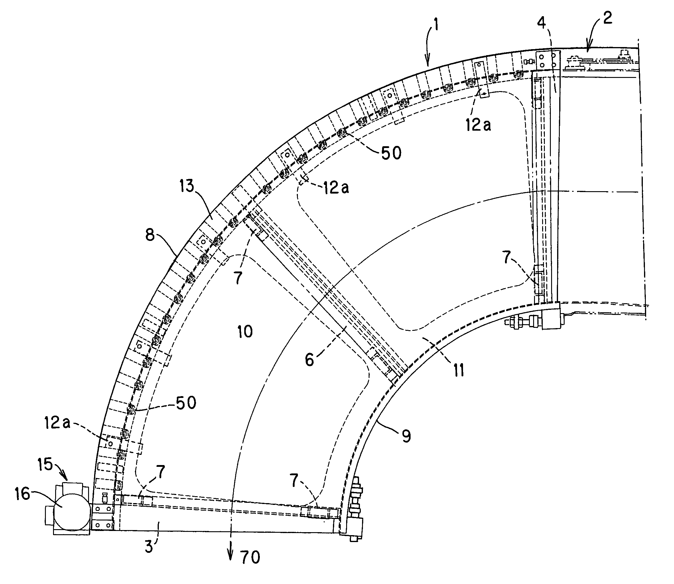 File Curved Belt Coveyor