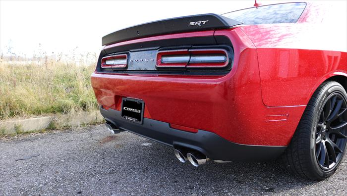 corsa extreme challenger hellcat cat back dual polished tips