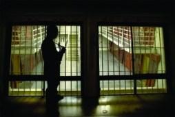 pbsp Pelican-Bay-Prison-Guard-George-Sherman-carries-rifle-whenever-a-guard-enters-10-cell-pod-by-John-Burgess-Santa-Rosa-Press-Democrat SFBAYVIEW
