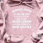 Herren Stiefvater Bonus Papa Vater Geschenk Geschenkidee Shirt
