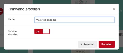 Pinterest: Visionboard erstellen