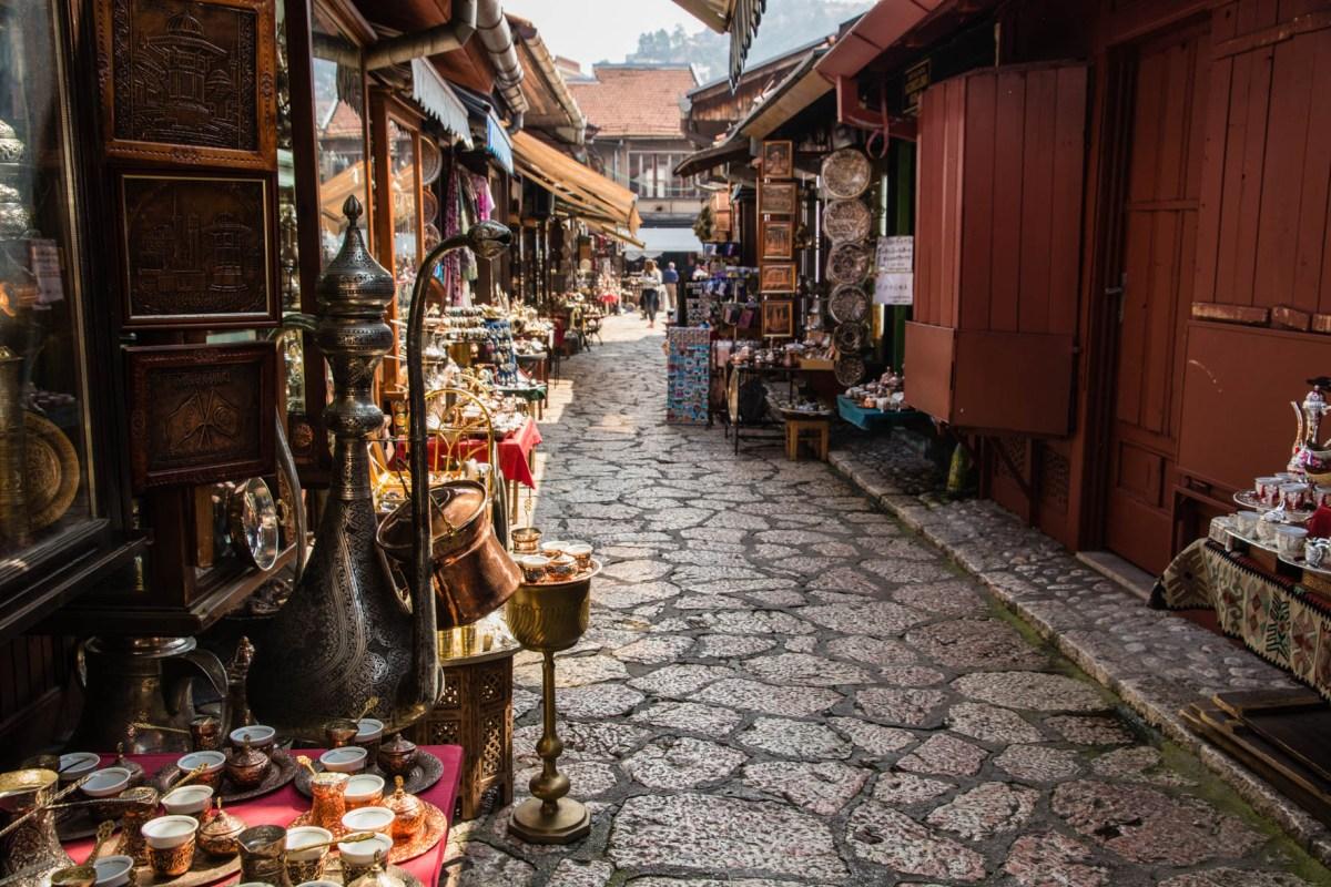 Sarajevo, the old town. Bosnia. Highlight in Bosnië.
